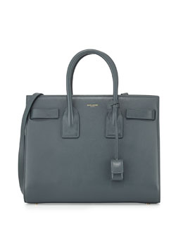 Saint Laurent Sac de Jour Small Carryall Bag, Gray