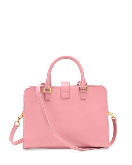 Monogram Small Zip-Around Satchel Bag, Pink