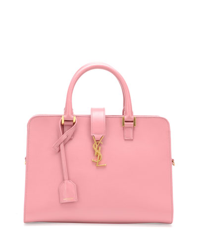 Saint Laurent Monogramme Small Zip-Around Satchel Bag, Pink