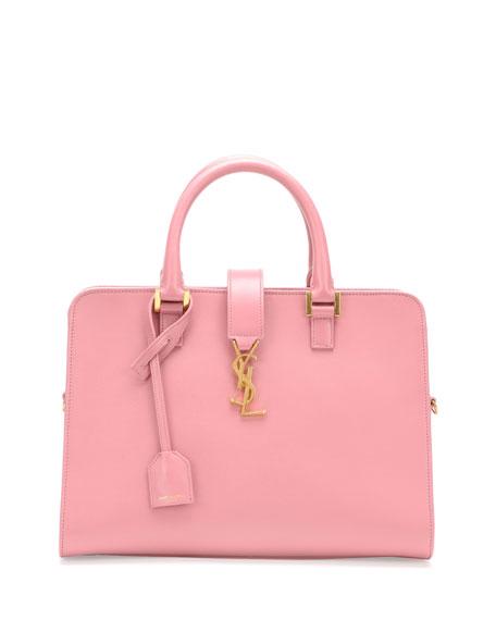 Saint Laurent Monogram Small Zip Around Satchel Bag Pink