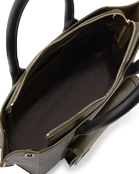 Jo Mini Saffiano Three-Tone Tote Bag, Militaire Multi