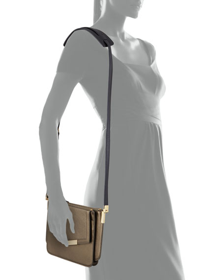 Modena Mini Trilogy Crossbody Bag, Bronze