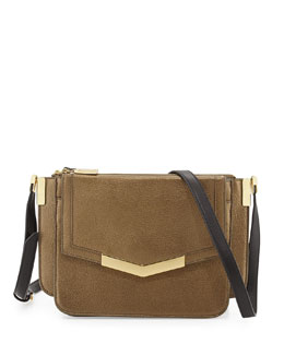 Time's Arrow Modena Mini Trilogy Crossbody Bag, Bronze