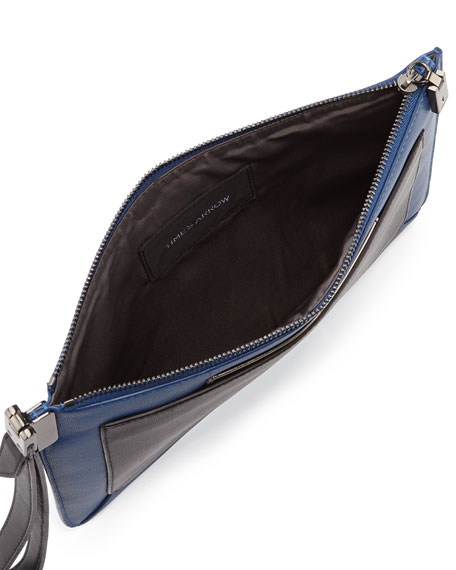 Ishi Small Leather Wristlet, Paris Blue