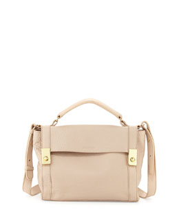 See by Chloe Jill Medium Pebbled Satchel Bag, Pearl