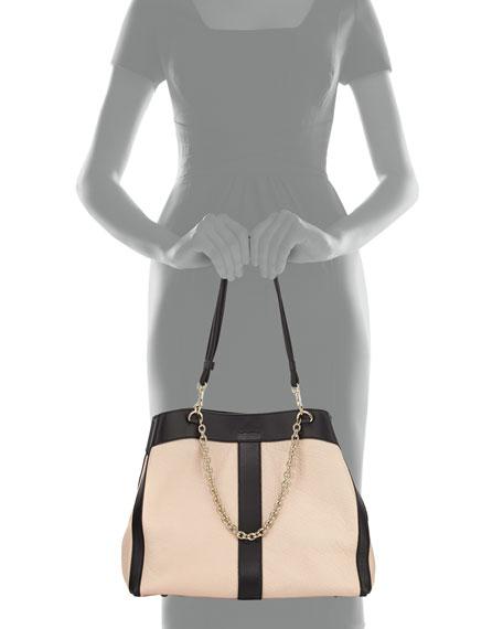 Beki Medium Chain Tote Bag, Pearl