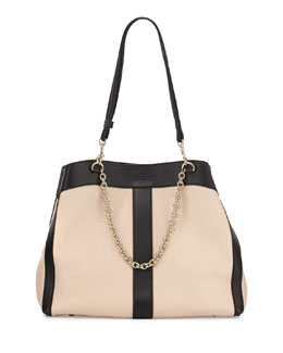 See by Chloe Beki Medium Chain Tote Bag, Pearl
