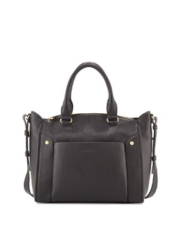 See by Chloe Keren Small Leather Satchel Bag, Black