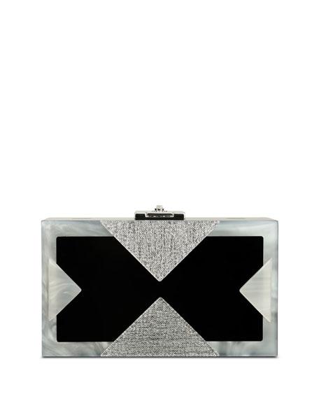 Alicia Lucite Clutch Bag, Silver