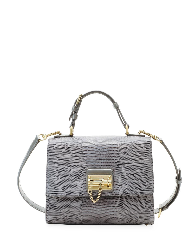 71492cf453 Dolce   Gabbana Monica Lizard Lock Satchel Bag