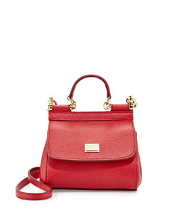Dolce & Gabbana Miss Sicily Mini Crossbody Bag, Red