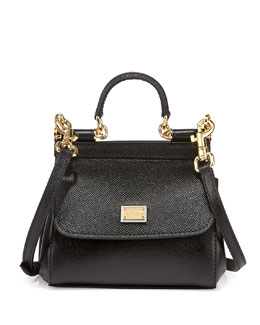 Dolce & Gabbana Miss Sicily Mini Crossbody Bag, Black