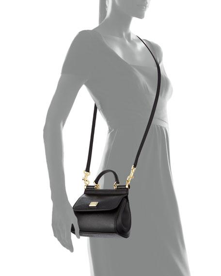 6da03fe59b Dolce & Gabbana Miss Sicily Mini Crossbody Bag, Black