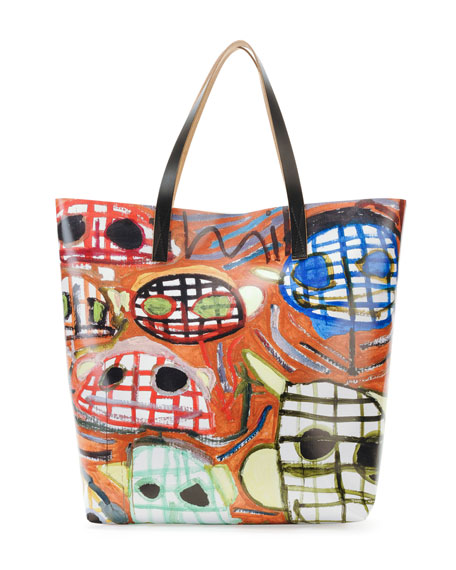 Face-Print PVC Shopping Bag
