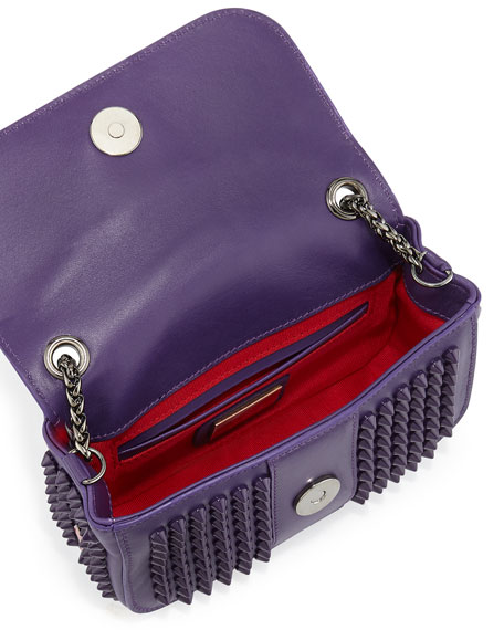 Sweet Charity Small Spiked Crossbody Bag, Violet