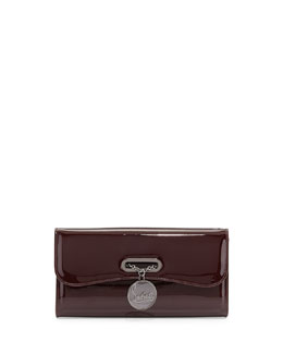 Christian Louboutin Riviera Patent Clutch Bag, Bordeaux