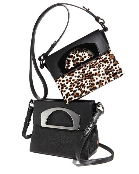 Mini Passage Leather Crossbody Bag, Black