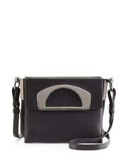 Christian Louboutin Mini Passage Leather Crossbody Bag, Black