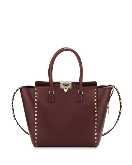 Rockstud Medium Shopper Bag, Bordeaux
