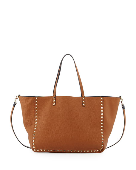 Rockstud Reversible Double-Sided Tote Bag, Blue/Brown