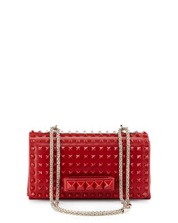 Valentino Va Va Voom Rockstud Shoulder Bag, Red