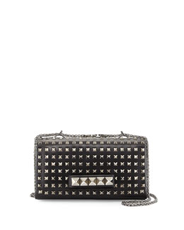 Valentino Va Va Voom Noir Studded Shoulder Bag, Black