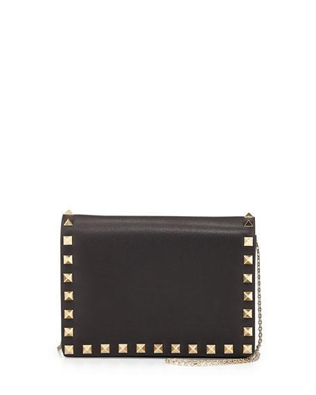 Rockstud Pouch Crossbody Bag, Black