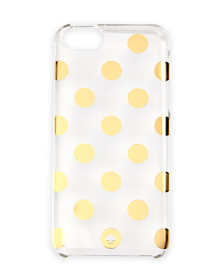 le pavillion polka-dot resin iPhone 5 case, clear/gold