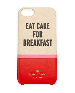 kate spade new york eat cake resin/canvas iPhone 5 case, multi colors