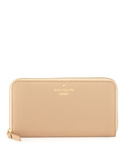 kate spade new york cobble hill lacey zip wallet, affogato
