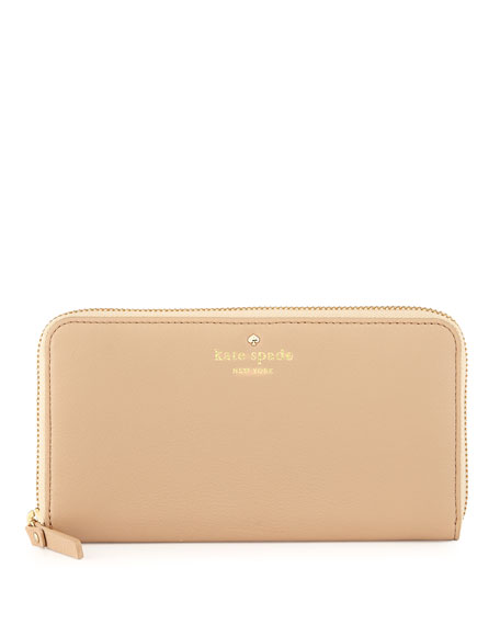 cobble hill lacey zip wallet, affogato