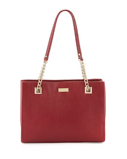 kate spade new york sedgewick lane phoebe small tote bag, braised plum