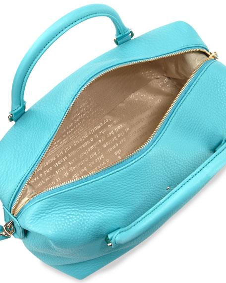 henry lane emmy satchel bag, tropic blue
