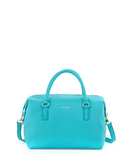 kate spade new york henry lane emmy satchel bag, tropic blue