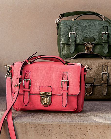 lola avenue lia crossbody satchel, brown sugar