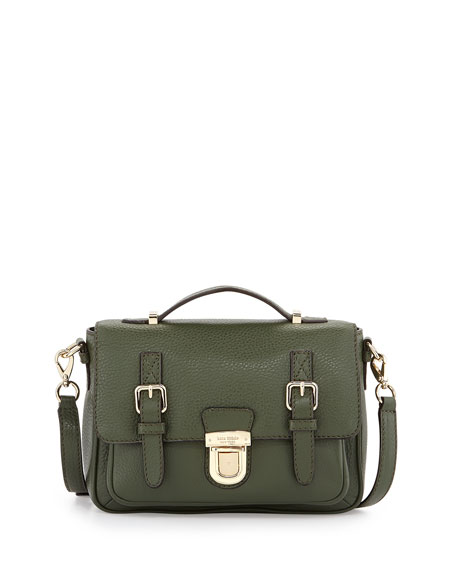 lola avenue lia crossbody satchel, loden