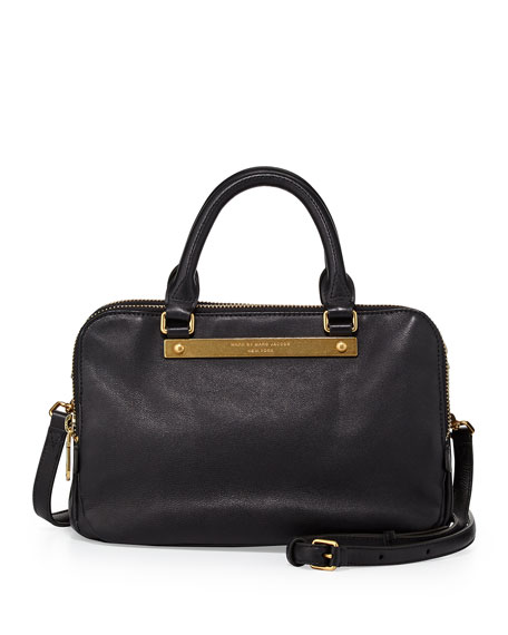 Goodbye Columbus Sylvie Satchel Bag, Black