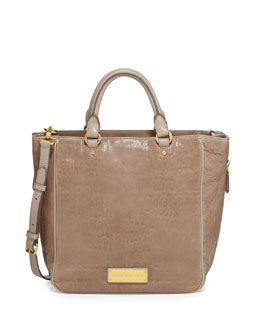 MARC by Marc Jacobs Washed Up Leather Tote Bag, Cement