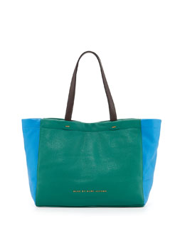 MARC by Marc Jacobs What's The T Colorblock Tote Bag, Island Green Multi