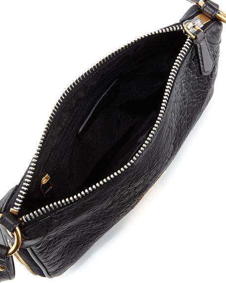 Washed Up Zip Crossbody Bag, Black