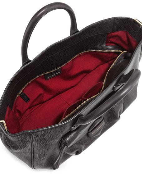 Half Pipe Pebbled Tote Bag, Black