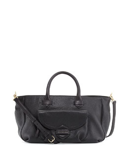 MARC by Marc Jacobs Half Pipe Pebbled Tote Bag, Black