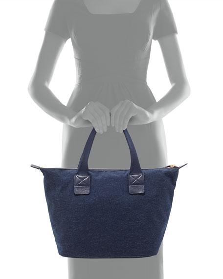 Domo Arigato Chambray Zip Tote Bag, Twilight Navy