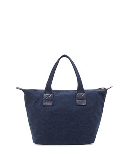 MARC by Marc Jacobs Domo Arigato Chambray Zip Tote Bag, Twilight Navy