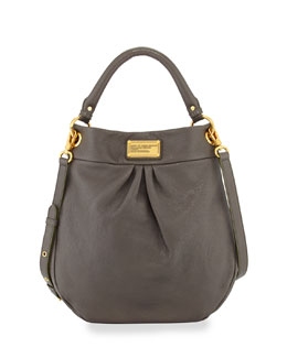 MARC by Marc Jacobs Classic Q Hillier Hobo Bag, Faded Aluminum