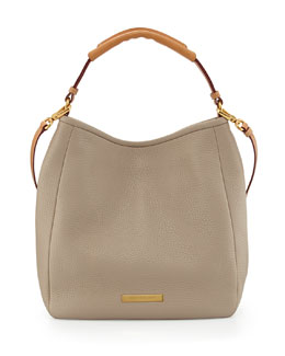 MARC by Marc Jacobs Softy Leather Saddle Hobo Bag, Creme