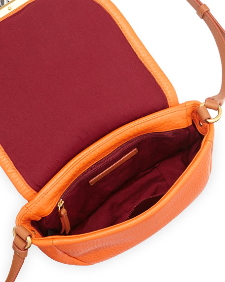 Softy Saddle Crossbody Bag, Spiced Orange