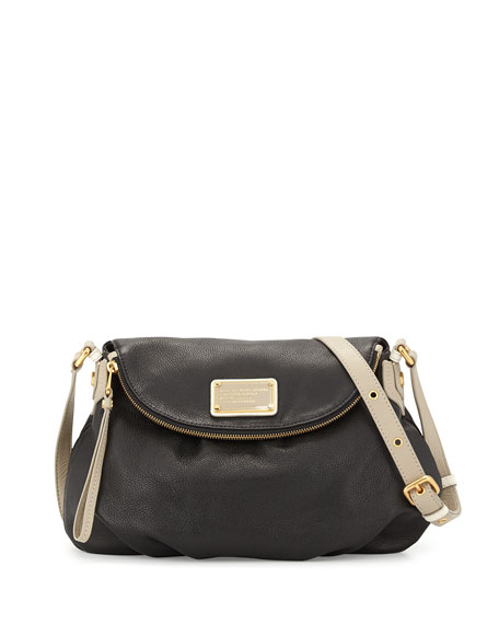 Classic Q Natasha Colorblock Crossbody Bag, Black Multi