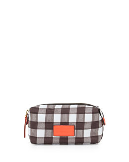MARC by Marc Jacobs Domo Arigato Brushed Check Cosmetic Pouch, Black Multi