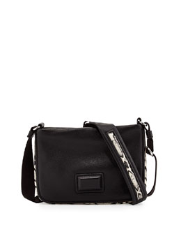 MARC by Marc Jacobs Classic Q Percy Snake-Print-Trim Crossbody Bag, Infra Red Multi